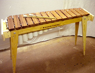An affordable marimba with beautifully tuned notes.